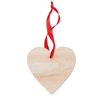 Herzanhänger aus Holz