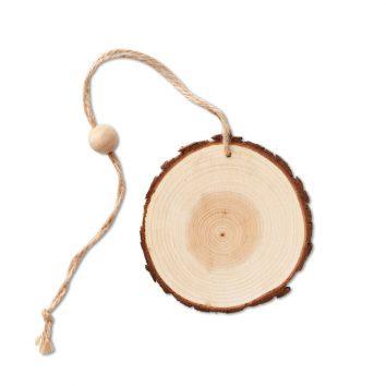Holzanhänger rund