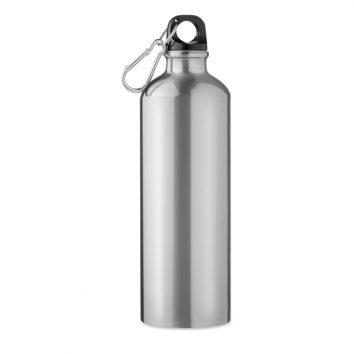 Silberne Trinkflasche bedruckbar
