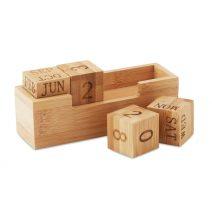 Kalender aus Bambus für Schreibtisch und Büro