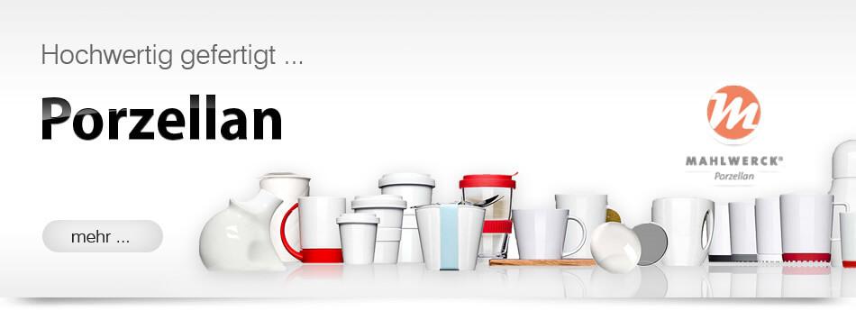 Verschiedene Kaffeetassen Espressotassen Kaffeebecher aus Porzellan bedrucken