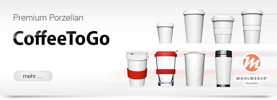 Coffeetogo Mehrweg Becher bedrucken Werbegeschenk Werbemittel Werbeartikel aus Porzellan