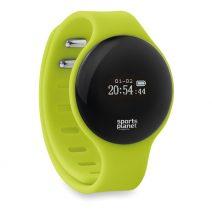 MO8734_1-Bluetooth-Sport-Armband-hellgruen-Logoaufdruck-Frontansicht-Schritt-Kalorienzaehler-Muenchen-Rosenheim-Werbeartikel-bedrucken-bedruckbar.jpg