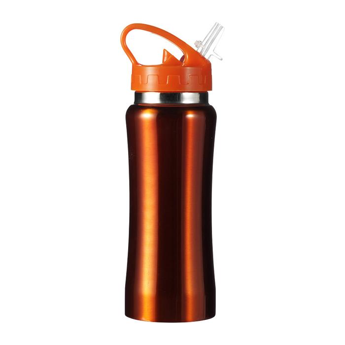 Trinkflasche aus Edelstahl mit Schnellverschluss (bedruckbarer Werbeartikel)