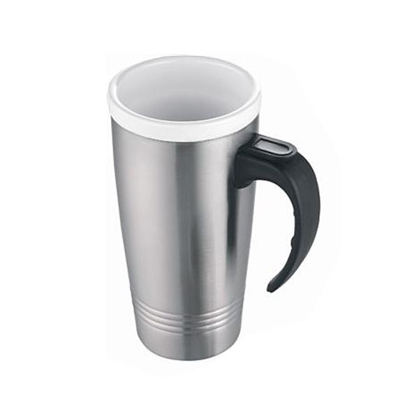 Coffeetogo Thermotrinkbecher Kermik als Werbeartikel mit Henkel und Laserung