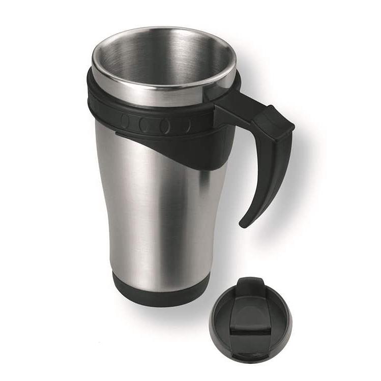 Thermobecher – Isolierbecher Coffeetogo als Werbeartikel mit Henkel und Laserung