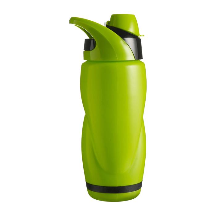 Kunststoff Trinkflasche mit Halter (bedrucken als Werbeartikel)