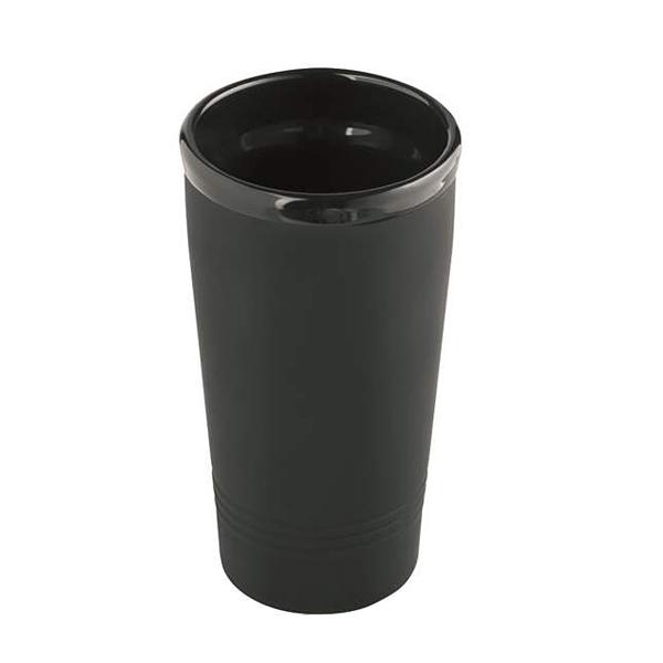 Isolierbecher Thermotrinkbecher Keramik als Werbeartikel mit Laserung