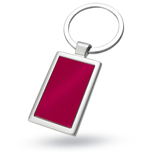 Rechteckiger Schlüsselanhänger aus Aluminium (bedruckbar)