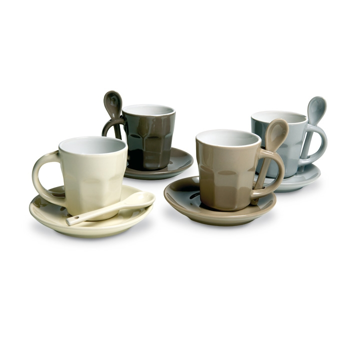 Kaffeeset 4-teilig (bedruckbar, Werbedruck)