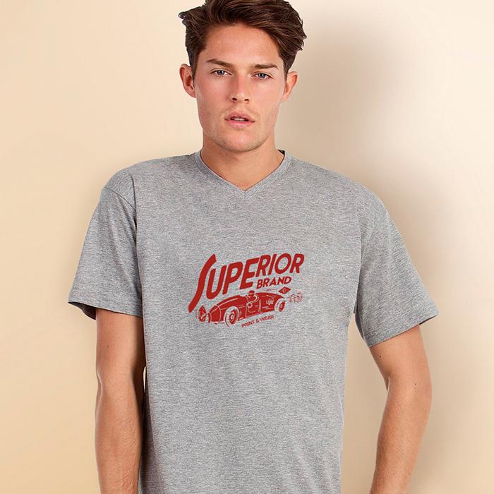 V-Neck T-Shirt bedruckbar mit Ihrem Logo als Werbemittel