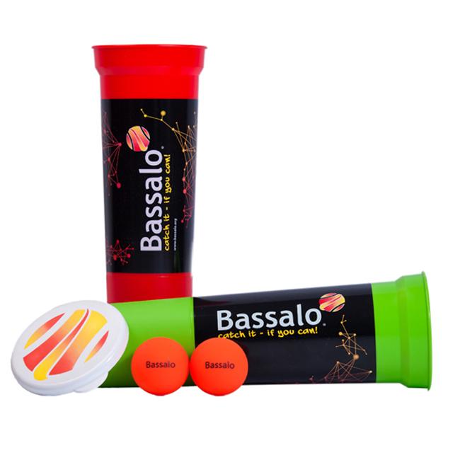 """Neues Ballspiel """"Bassalo"""" bedruckbar mit Ihrem Logo als Werbeartikel"""