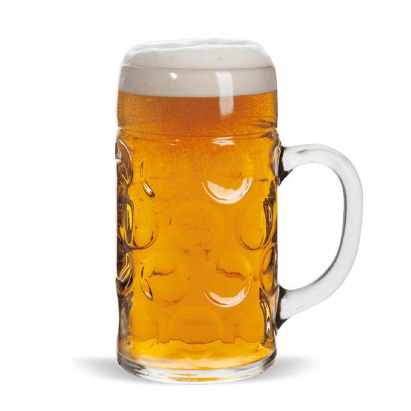 Masskrug Bierglass 1,0l individuell bedruckbar