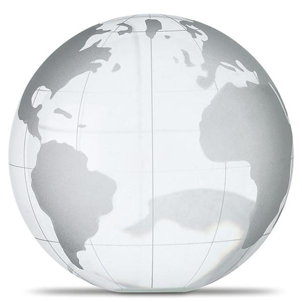 Weltkugel Briefbeschwerer bedruckbar