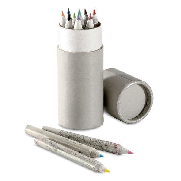 Umweltfreundliches Buntstift-Set in runder Dose (bedruckbar)
