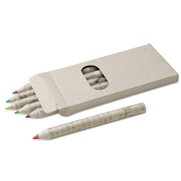 Umweltfreundliche Buntstifte als Set / Malset (bedruckbar)