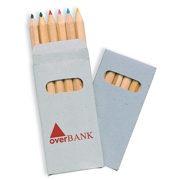 Kleines Buntstifte Set mit Schachtel (bedrucken mit Logo)