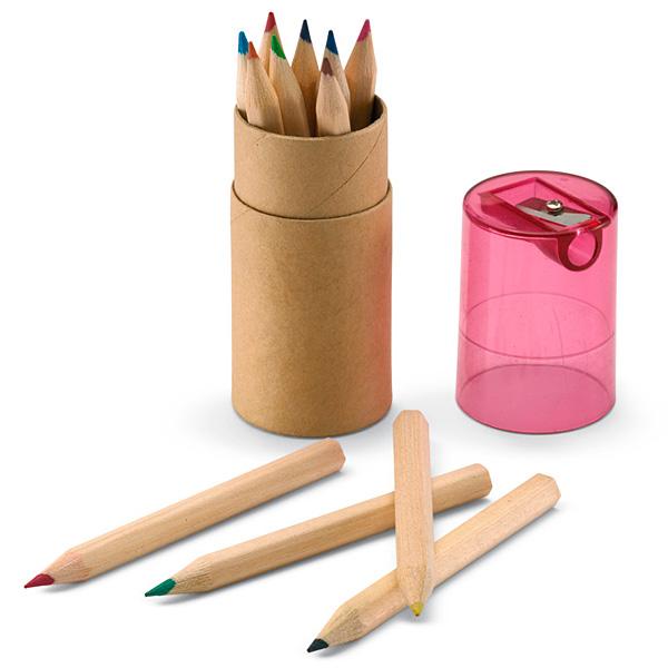 Buntstifte Set in Dose mit Bleistift Spitzer (bedrucken mit Logo)