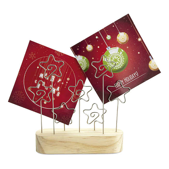 Holz/Metall Weihnachts Zettelhalter