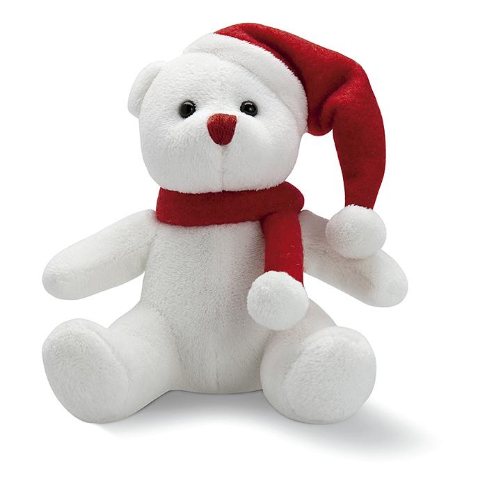 Plüsch-Polarbär mit Logo bedruckbar