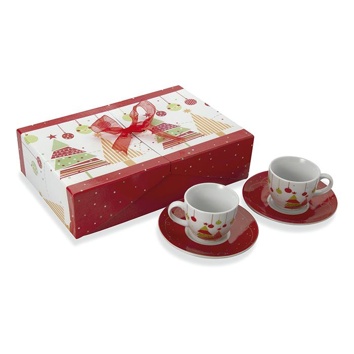 6-teiliges Espresso-Set als Weihnachtspräsent mit Logodruck