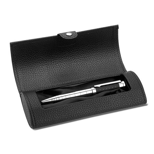 Chrome Kugelschreiber im Etui (bedrucken als Werbegeschenk)