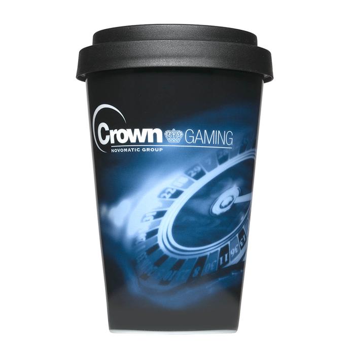 500 Stück Coffeetogo Thermobecher mit 4-c Druck als Werbegeschenk