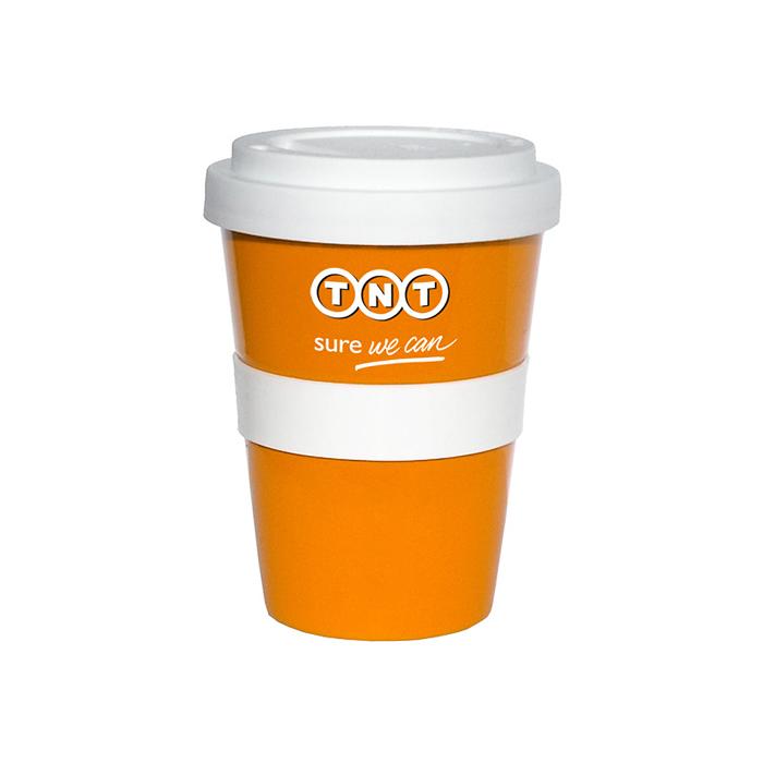 500 Stück Coffeetogo Becher 350ml 2-c Druck als Werbeartikel bedruckt