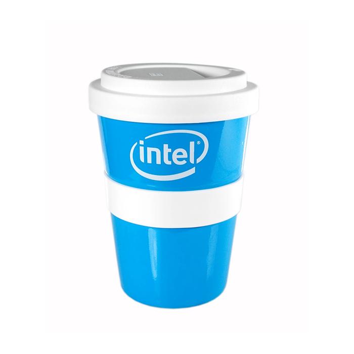 1000 Stück Coffeetogo Becher 350ml 2-c Druck als Werbeartikel bedruckt