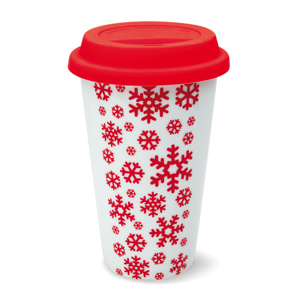 Doppelwandiger Coffeetogo Kunststoff-Becher