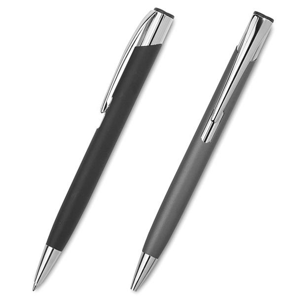Aluminium Kugelschreiber in schwarz und grau (bedruckbar)