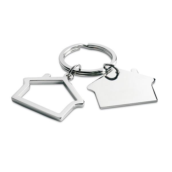 Schlüsselring als Haus (mit Logo bedruckbar)