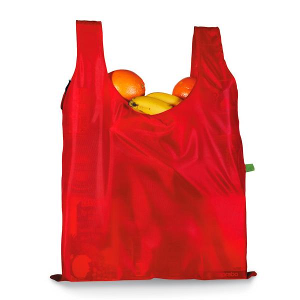 Einkaufstasche zum falten in Etui mit Karabinerhaken