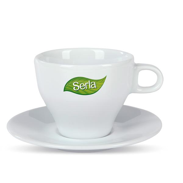 Espresso Cappuccino Milchkaffee mit Werbedruck bedruckbar