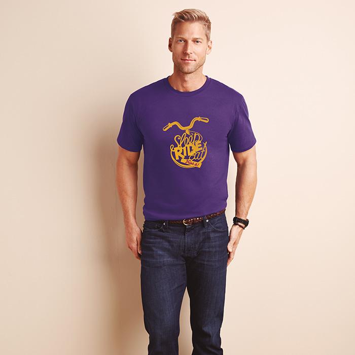 Baumwolle T-Shirt online mit Logo veredeln