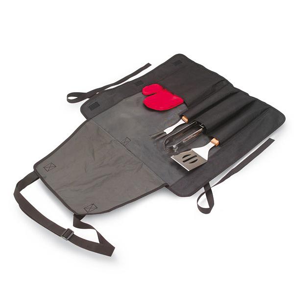 Grillset mit Tasche (bedruckbar als Werbegeschenk)