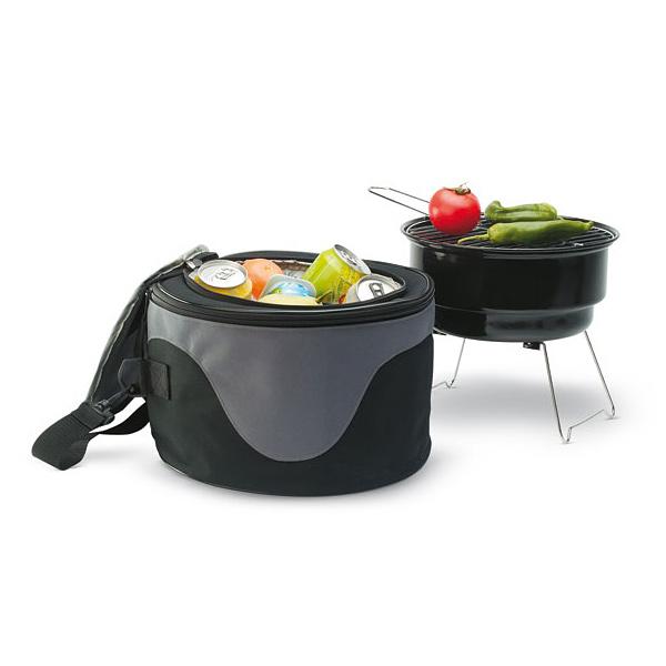 Mobiler Grill mit Kühltasche (als Werbegeschenk)