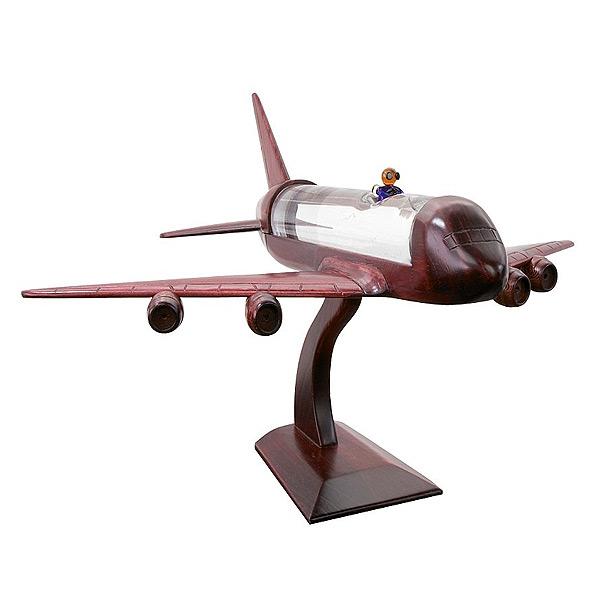 Holz Flugzeug mit Grappa als Werbepräsent