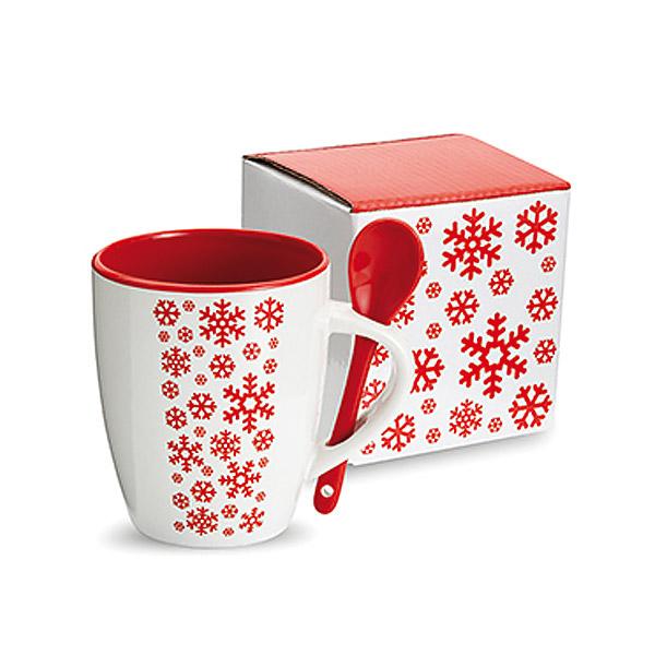 kaffeetasse mit l ffel als werbepr sent zu weihnachten m nchen. Black Bedroom Furniture Sets. Home Design Ideas