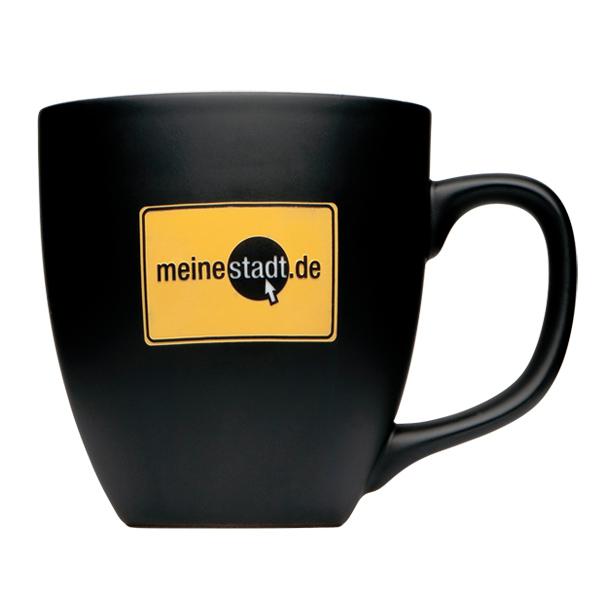 Kaffeebecher matt mit Firmenlogo