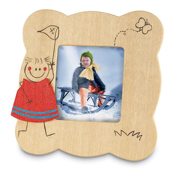 Kinder-Holzbilderrahmen (bedruckbar)