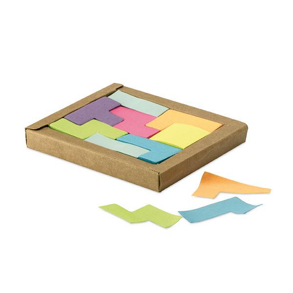 Haftnotizzettel bunt in umweltfreundlicher Box (zum bedrucken mit Logo)