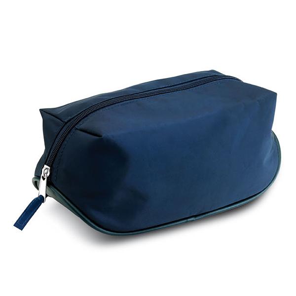 Beautytasche in blau als Werbegeschenk