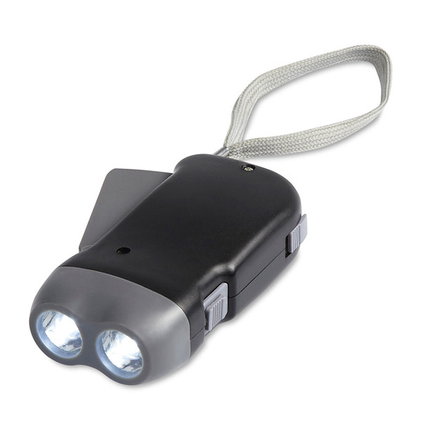LED-Taschenlampe mit Dynamo als Werbeartikel zum Bedrucken