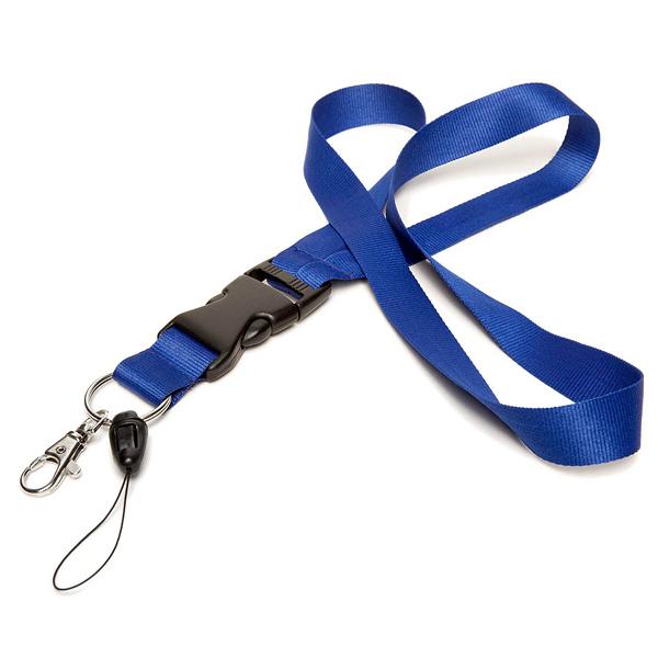Lanyard / Schlüsselband blau (ohne Bedruckung)