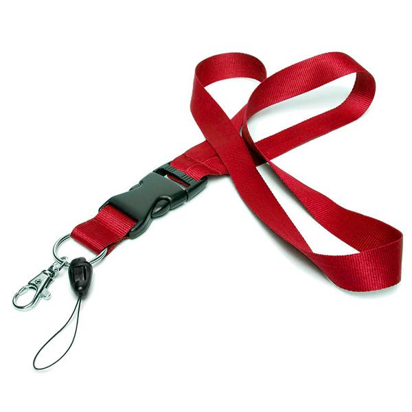 Lanyard / Schlüsselband rot (ohne Bedruckung)