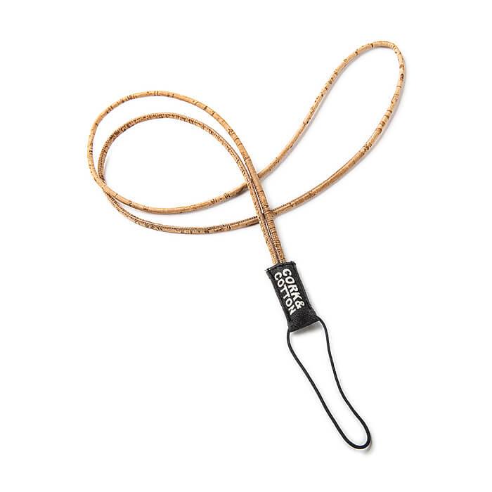 Natur Kork Lanyard lang – Schlüsselband mit Handyhalter (zum besticken)