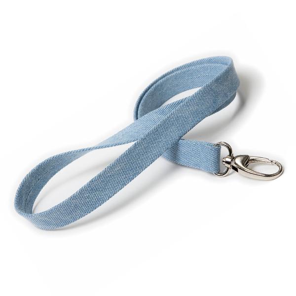 Lanyard / Schlüsselband Blue Jeans (bedruckbar)