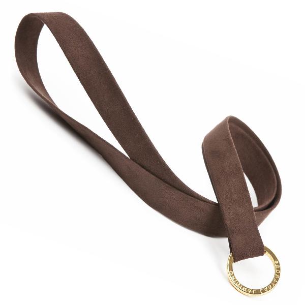 Schlüsselband im Leder Look in braun zum Bedrucken