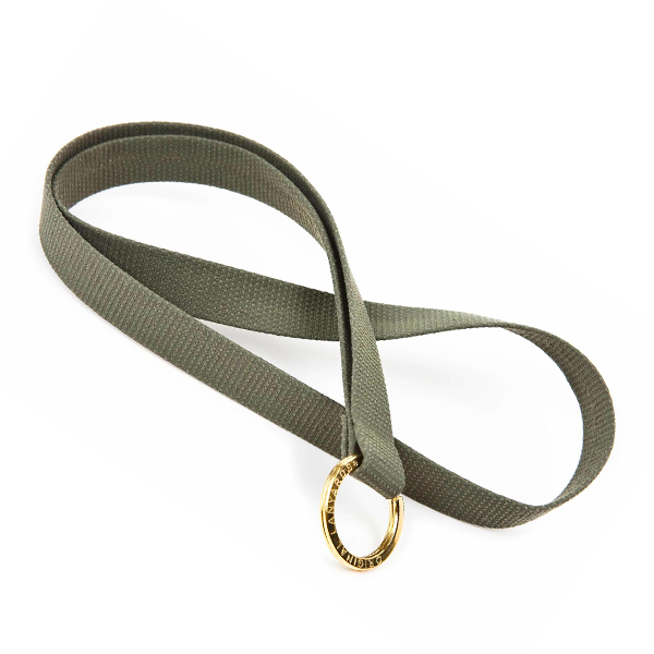 Schlüsselband aus Stoff in grün zum Bedrucken